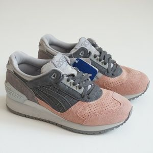 *NEW* Asics Suede Grey/Pink Sneaker Size 6.5